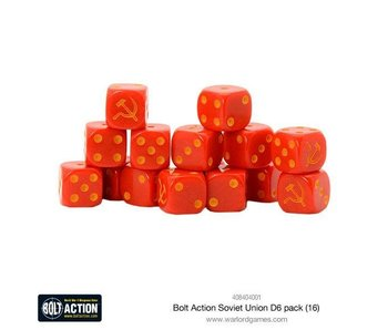 Bolt Action Soviet Union D6 Dice (16)