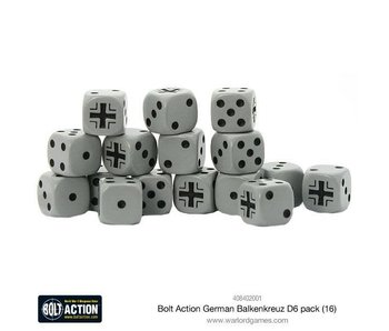 Bolt Action German Balkenkreuz D6 Dice (16)