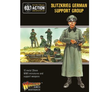 Bolt Action Blitzkrieg German Support Group (Hq, Mortar & Mmg)