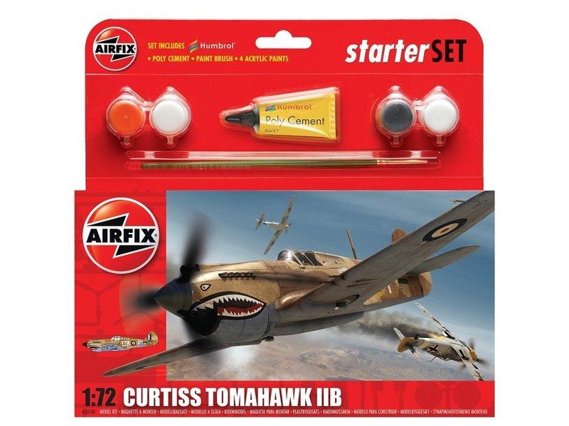 Airfix Airfix 1:72 Curtiss Tomahawk IIB Starter Set
