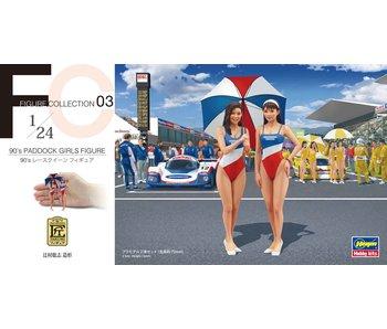 90 Paddock Girls Figure (Two Kits In The Box) Fc03 (1/24)