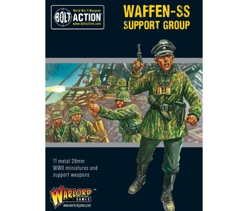 Bolt Action Waffen-Ss Support Group (Hq, Mortar & Mmg)