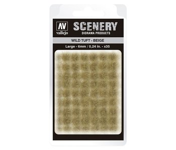 Scenery Diorama Products - Wild Tuft -Beige (Large 6MM) (SC420)