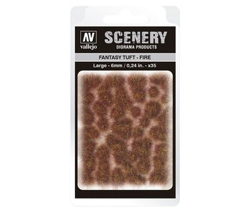 Scenery Diorama Products - Fantasy Tuft -Fire (Large 6MM) (SC431)