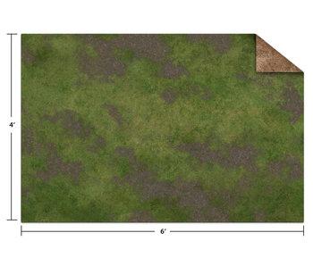Game Mat 6X4 Broken Grassland/Desert Scrubland