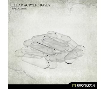 Clear Acrylic Bases - Bike 70x25mm (20)