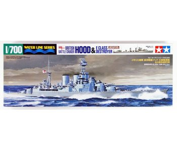 Tamiya 1/700 British Battle Cruiser Hood And E Class Destroyer