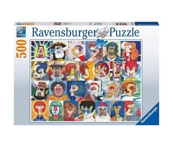 Ravensburger Faces In Alphabet 500Pcs