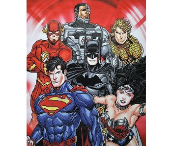 Six Stacked Superheroes Diamond Painting Kit