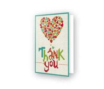 Diamond Dotz Thank You Heart Greeting Card