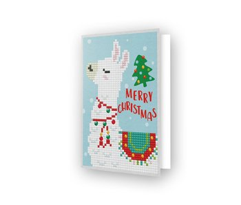 Diamond Dotz Merry Xmas Llama Greeting Card