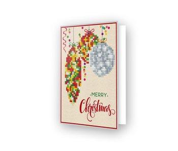 Diamond Dotz Merry Xmas Baubles Traditional Card