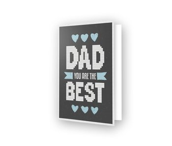 Diamond Dotz Best Dad Greeting Card