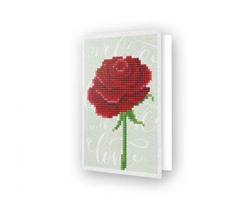 Diamond Dotz Love Rose Greeting Card