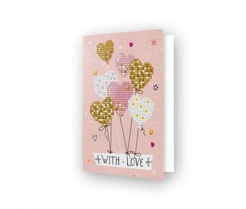 Diamond Dotz Love Balloons Greeting Card