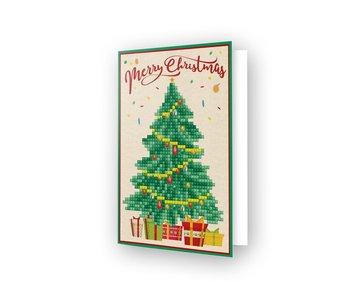 Diamond Dotz Merry Xmas Tree Greeting Card
