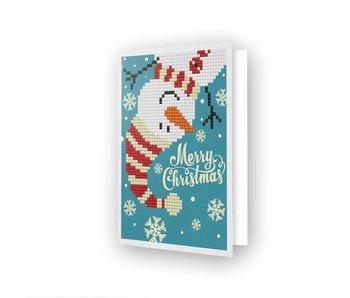 Diamond Dotz Merry Xmas Snowman Greeting Card