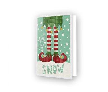 Diamond Dotz Let It Snow Greeting Card
