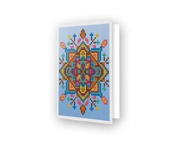 Diamond Dotz Blue Star Greeting Card