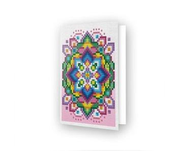Diamond Dotz Pink Star Greeting Card