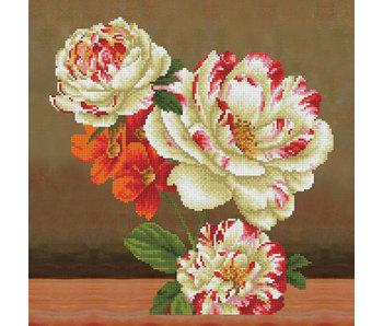 Diamond Dotz Pillow Kit Camellia & Lily Bouquet