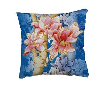 Diamond Dotz Pillow Kit Magnolia On Blue