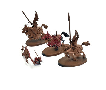 VAMPIRE COUNTS 3 Converted Blood Knights with dragon princes Warhammer Sigmar