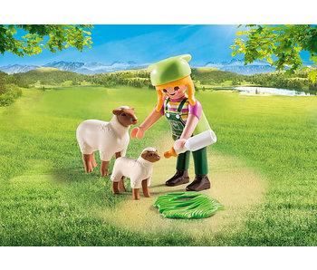 Farmer with Sheep (9356)