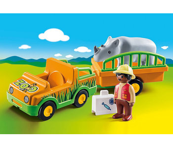 Zoo Vehicle with Rhinoceros (70182)