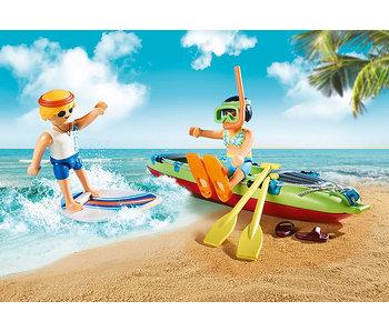 Beach Car with Canoe (70436)