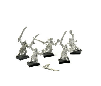 Dark Elves 5 Mengil Manhide Manflayers #2 METAL Fantasy