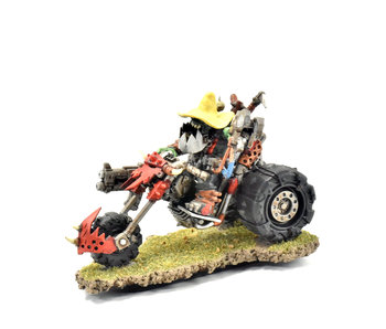 ORKS Warboss on Warbike Converted #1 METAL Warhammer 40k