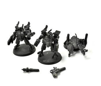 TAU EMPIRE 3 XV8 Crisis Battlesuits #3 ONE METAL Warhammer 40k