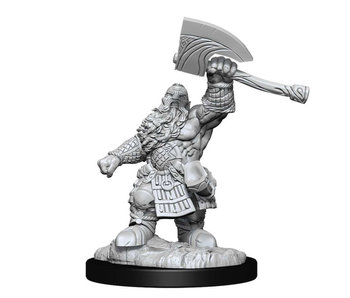 MTG Unpainted Minis Wv14 Dwarf Fighter/Cleric
