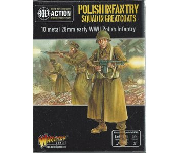 Bolt Action Polish Infantry Squad in greatcoats (10 man)