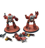 Games Workshop ADEPTUS MECHANICUS 2 Kastelan Robots #2 WELL PAINTED Warhammer 40k