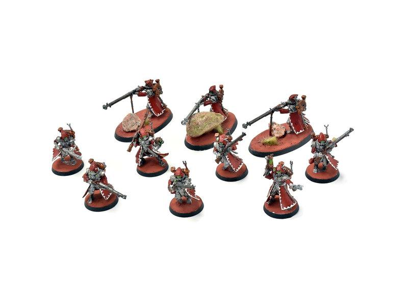 Games Workshop ADEPTUS MECHANICUS 10 Skitarii Rangers with Arquebuse WELL PAINTED 40k