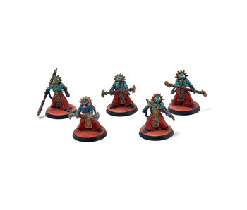 ADEPTUS MECHANICUS 5 Electro-Priests #2 WELL PAINTED Warhammer 40k