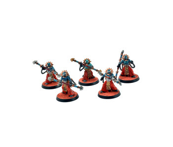 ADEPTUS MECHANICUS 5 Electro-Priests #1 WELL PAINTED Warhammer 40k