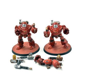 ADEPTUS MECHANICUS 2 Kastelan Robots #1 WELL PAINTED Warhammer 40k