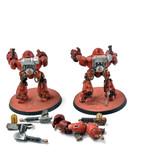 Games Workshop ADEPTUS MECHANICUS 2 Kastelan Robots #1 WELL PAINTED Warhammer 40k