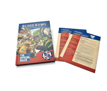 BLOOD BOWL Rulebook with 2 Cheat Sheet Warhammer
