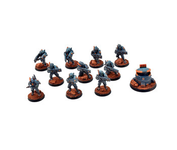 SACEA TAU 10 Fire Warriors + D58 Tactival Turret #1 PRO PAINTED 40k GW