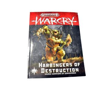 WARCRY Harbringers of Destruction Book Warhammer Sigmar defect page bend inside