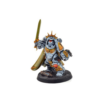 SPACE WOLVES Captain in Gravis Armour #1 WELL PAINTED 40k