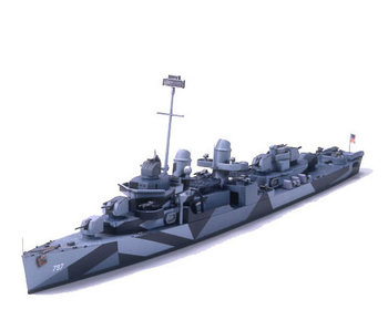 Tamiya 1/700 Uss Cushing Dd-797 Destroyer
