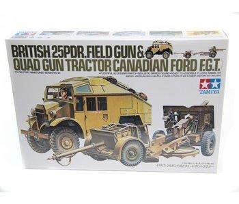 Tamiya British 25 Pdr Gun & Quad Tractor (1/35)