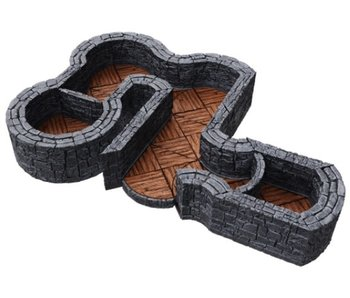 Warlock Tiles - 1 inch Dungeon Angles / Curves Expansion
