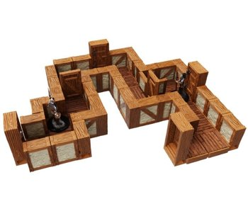 Warlock Tiles - 1 inch Town / Village Straight Walls Expansion