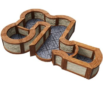 Warlock Tiles - 1 inch Town / Village Angles / Curves Expansion